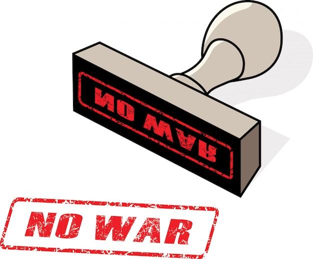 Hand drawn no war stamp