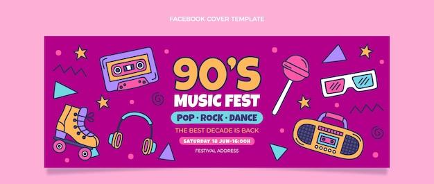 Copertina di facebook del festival di musica nostalgica disegnata a mano