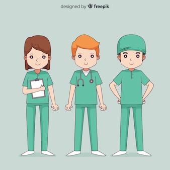手描き看護師チーム
