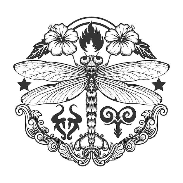 動物、花、火、水のzentangleアートの手描き