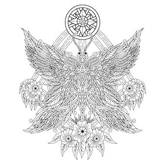 Zentangleスタイルの蝶の手描き