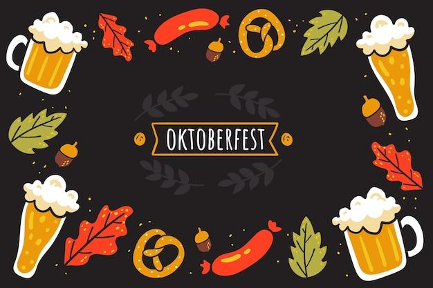 Hand drawn oktoberfest background