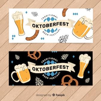 Hand drawn oktoberfest banners template