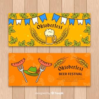 Рисованные рекламные баннеры oktoberfest