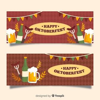 Hand drawn oktoberfest banners