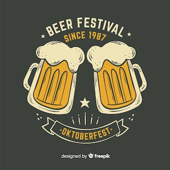 Hand drawn oktoberfest beer festival since 1987