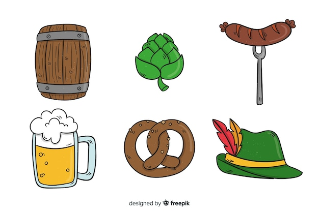 Hand drawn oktoberfest collection