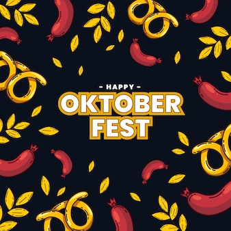 Hand drawn oktoberfest concept