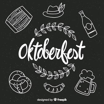 Hand drawn oktoberfest element collection
