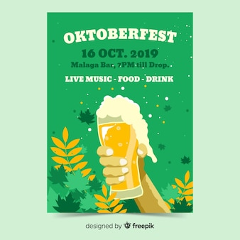 Hand drawn oktoberfest flyer templates