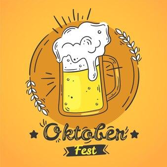 Hand drawn oktoberfest illustration