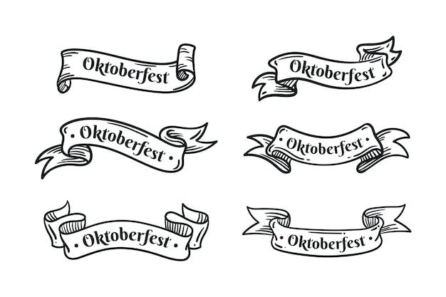 手描きのオクトーバーフェストリボンコレクション