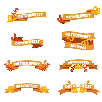 Hand drawn oktoberfest ribbons