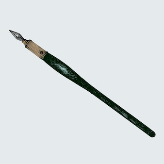 手描きの古風な万年筆