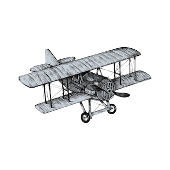 Hand drawn old plane