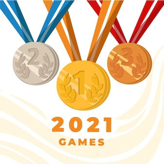 Hand drawn olympic games 2021 illustration