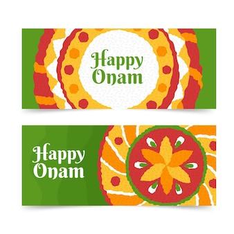 Набор рисованной onam баннеров