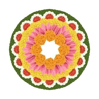 Ручной обращается onam цветочные украшения