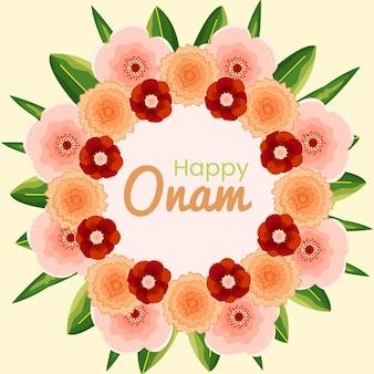 Hand drawn onam floral decoration