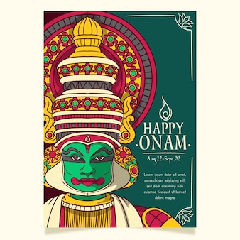 Hand drawn onam poster