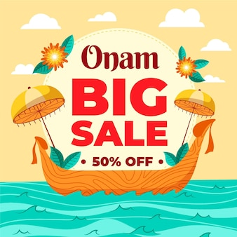 Hand-drawn onam sales design