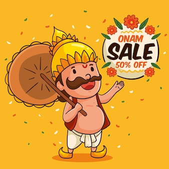Hand drawn onam sales