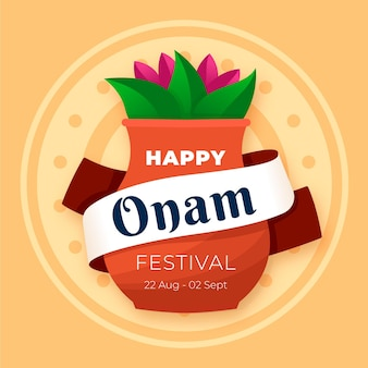 Hand drawn onam