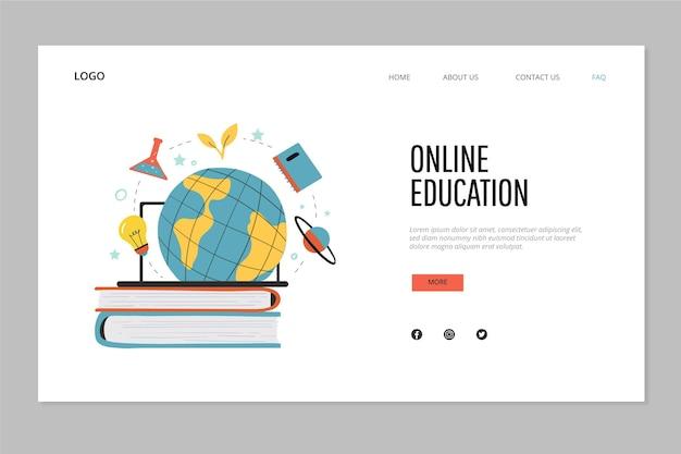 手描きのオンライン教育のランディングページ