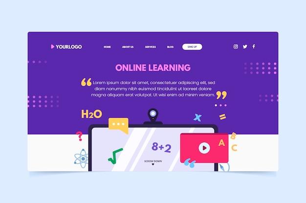 Ручной обращается шаблон целевой страницы онлайн-обучения