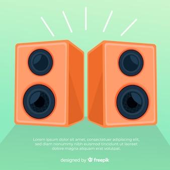 Hand drawn orange speaker background