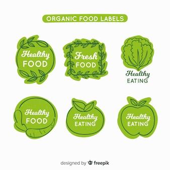 Набор рисованной органических фруктов этикетки