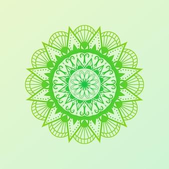 Hand drawn oriental colorful mandala