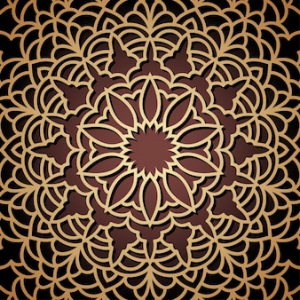 Hand drawn oriental ornamental ethnic lace background for t shirt design, vintage card, party invitation, poster, fashion neckerchief, scarf, brochures, gift album, scrapbook etc