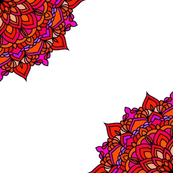 Ручной обращается восточный декоративный этнический кружевной фон карты для дизайна футболки, винтажной открытки, приглашения на вечеринку, плаката йоги, модного шейного платка, шарфа, брошюр, подарочного альбома, альбома для вырезок и т. д.