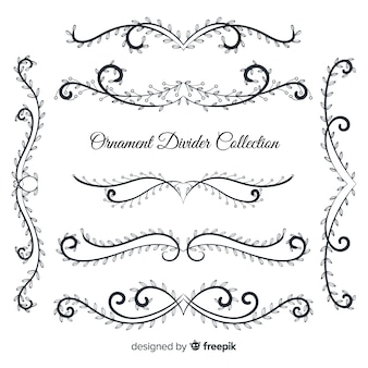 Hand drawn ornament divider collection