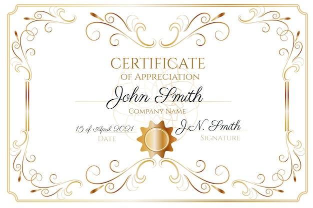 Ручной обращается декоративный сертификат