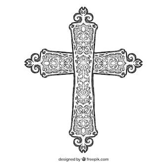手描きの装飾的な十字架