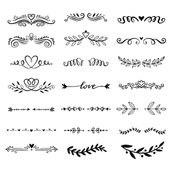 Hand drawn ornamental divider collection