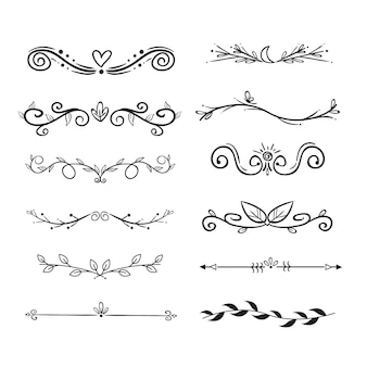 Hand drawn ornamental divider pack
