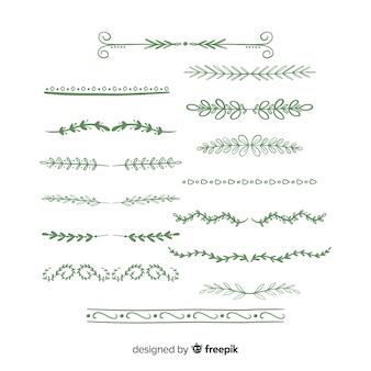 Hand drawn ornamental  divider set