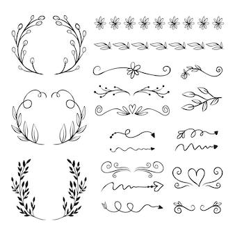 手描き装飾要素セット