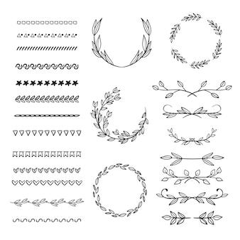 Набор рисованной декоративных элементов