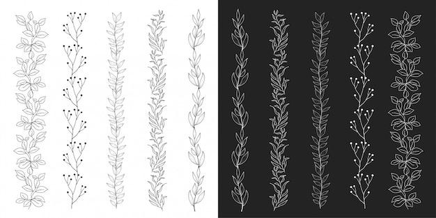 Hand drawn ornamental elements  vector