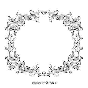 Hand drawn ornamental flower frame