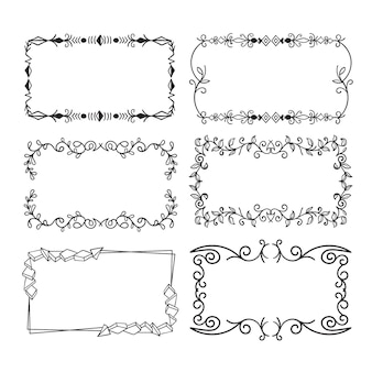 Hand drawn ornamental frame collection