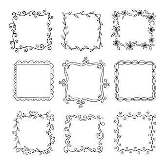 Hand drawn ornamental frame pack