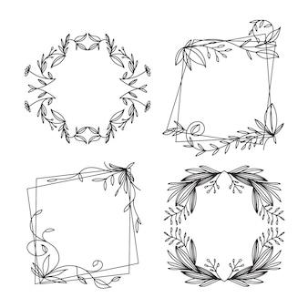 Ручной обращается декоративная рамка