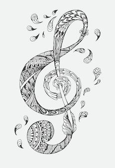 Hand drawn ornamental highly detailed abstract.