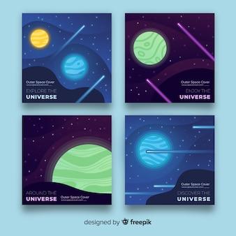 手描きの宇宙バナー