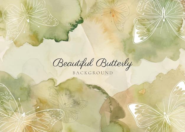 Sfondo farfalla contorno disegnato a mano